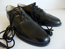 Ghillie black leather brogues made for Geoffrey (Tailor) Uk size 9