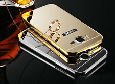 Luxury Aluminum Frame Mirror Back Cover Case Bumper For Samsung Galaxy Grand 2