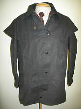 """Barbour Backhouse Stockman 3/4 Waxed jacket - S 38"""" Euro 48 UK 14 in blue"""