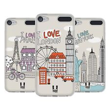 HEAD CASE DESIGNS DOODLE CITIES SOFT GEL CASE FOR APPLE iPOD TOUCH MP3