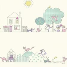 LUXURY HOLDEN CATS AND DOGS CHILDRENS KIDS BEDROOM NURSERY WALLPAPER ROLL 10721