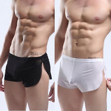 Men's Sexy Mesh Underwear Pants See Through Boxers Trunks Briefs