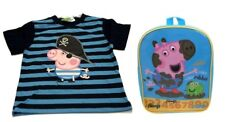 Peppa Pig T-shirt George Righe Blu + Zainetto