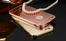 Luxury Aluminum Frame Mirror Back Cover Case Bumper For Apple Iphone 6S