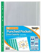A4 Extra Capacity Extra Wide Deep Punched Pockets Strong Plastic PPWallet 301078