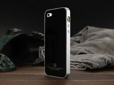 LUPHIE®Luxury Metal Bumper Frame With Tempered Glass Back Case Iphone 5,5S+ SG