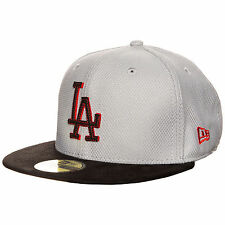 New Era 59FIFTY MLB Diamond Suede LA Dodgers Cap grau / schwarz / rot NEU