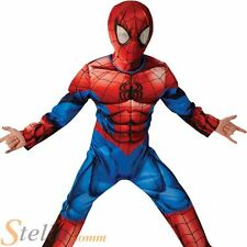 Boys Deluxe Ultimate Spiderman Superhero Fancy Dress Costume Child Outfit