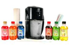 Large Snow cone Maker Machine Frozen Ice Shaver Kit 6 flavours, cups and straws