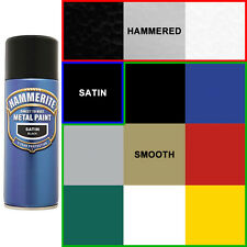 Hammerite Direct To Rust Metal Paint 400ml Aerosol Spray-Hammered, Satin, Smooth