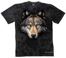 T-SHIRT BATIK BLACK Animale Deserto & Motivo Natura modello WOLF HEAD