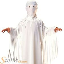 Boys White Scary Haunted House Ghost Robe Child Halloween Fancy Dress Costume