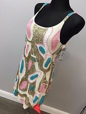 Forever Unique Oceania Heavily Beaded Shift Dress RRP £413 (AS-40/1)