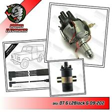 Land Rover 2.25 2.5 25D4 Distributor Coil & HT Leads Positive or Negative Earth