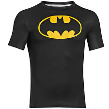 UNDER ARMOUR ALTER EGO COMPRESSION SHORT SLEEVE SHIRT BATMAN BLACK 1244399-006