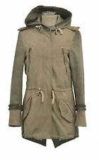 GIACCA PARKA IN PELLE E TESSUTO MOD FABRIC AND LEATHER JACKET COAT