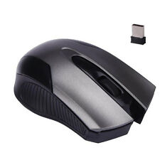2.4GHz 1600DPI UBS Ottico Wireless Per giochi Mouse Con Filo per Laptop PC Fisso