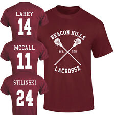 Beacon Hills Lacrosse T-Shirt Teen Wolf Fan McCall Stilinski Lahey Unisex Top