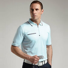 "GLENMUIR OSCAR PERFORMANCE ZIP NECK GOLF POLO SHIRT ""NEW FOR SUMMER 2016"""