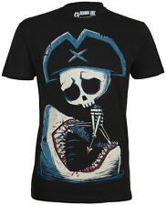Akumu Ink BATTLE TO THE DEATH Pirate Skeleton Shark TSHIRT Shirt Rockabilly