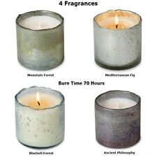 Himalayan Handmade Soy Wax Candles Bubble Glass Tumblers 4 Fragrances