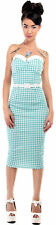 Collectif MONICA Pepita Gingham WIGGLE Pencil Dress GLAMOUR Kleid Rockabilly
