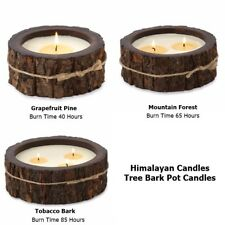 Himalayan Candles Tree Bark Pot Candle 3 Scents Burn Time 406085 Hours