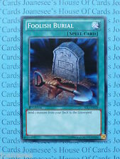 Foolish Burial SDLI-EN029 Common Yu-Gi-Oh Card Mint 1st Edition New