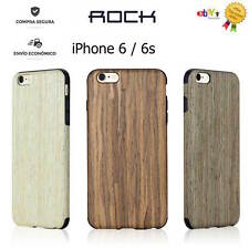 FUNDA CARCASA ORIGINAL ROCK ORIGIN SERIES DE MADERA Y SILICONA PARA IPHONE 6 6S