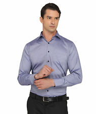 Donear Nxg Navy Color Wrinkle Free Cotton  Formal Shirt