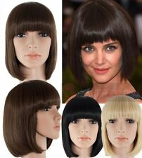 NEW LADIES SYNTHETIC HAIR CLASSIC BOB FULL WIG STRAIGHT WITH FRINGE 6367