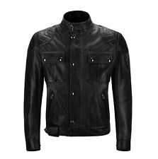 Belstaff Brooklands Blouson Leather Antique Black Motorcycle Jacket | All Sizes