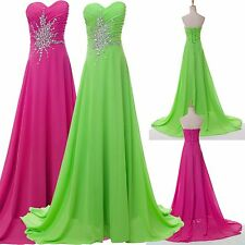 Chiffon Sexy Women Wedding Formal Party Ball Gown Prom Bridesmaid Evening Dress