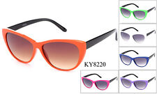 Colorful Cat Eye Sunglasses Retro Classic Designer Vintage Fashion Shades Women