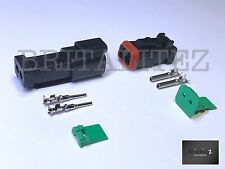 Deutsch DT Serie 2 Vías Enchufe Conector Kit dt06-2s C/W Pins & wedglock dt04-2p