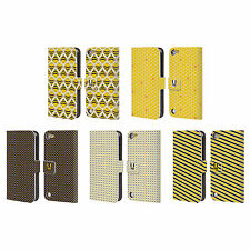 HEAD CASE DESIGNS BUSY BEE PATTERNS LEATHER BOOK CASE FOR APPLE iPOD TOUCH 5G 6G