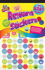 OVER 650 CHILDREN'S REWARD STICKERS SMILEY FACES AND MORE IDEAL FOR SCHOOL/HOME