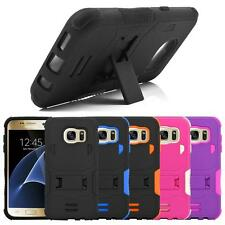 For Samsung Galaxy S7 SM-G930 Hybrid Box Shockproof Rugged Kickstand Case Cover