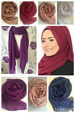 PLAIN 100% CHIFFON HIJAB SCARVES SHAWL SARONG BEACH WRAP