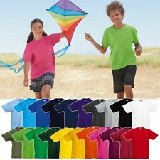 Fruit of the Loom: Kinder T-Shirt Baumwolle 21 Farben Original Tee 61-019-0 NEU