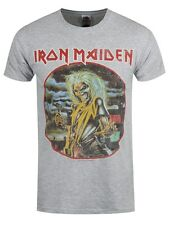 Iron Maiden Killers Circle Heather Men's Grey T-shirt