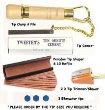 PERADON CUE TIP TOOL KIT PLUS. EVERYTHING REQUIRED FOR TIPPING YOUR CUE