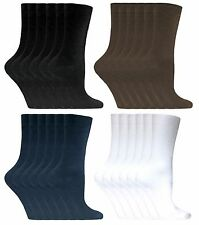 Sock Snob - Ladies 6 Pack Thin Casual Simple Colored Cotton Rich Dress Socks