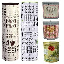 Spaghetti Pasta Rice Tea Food Storage Metal Tin Canister Kitchen Container Jar