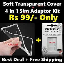 FOR XIAOMI REDMI NOTE 3 SOFT BACK COVER + FREE 4in1 SIM ADAPTOR KIT @ Rs 99/-