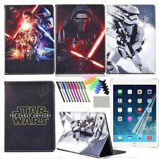 Star Wars the Force Awakens Cartoon Case for Samsung iPad Tablet PU Stand Cover