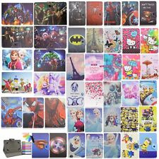 """Cartoon Case for 7"""" 7.9"""" 10.1"""" 9.7"""" Universal Tablet Protective PU Leather Cover"""
