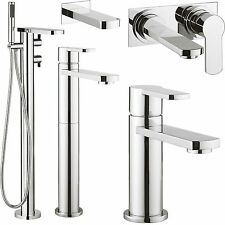 CROSSWATER WISP BATHROOM TAPS CHROME BASIN MIXER LEVER SINK FILLER SHOWER MODERN
