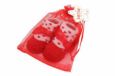 Baby Booties Red with White Dots Seasonal Christmas Style Socks Fit 0-6Month Kid