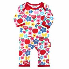 NEW SEASON Toby Tiger Organic Cotton Butterfly Flower Printed Sleepsuit